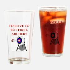 archery joke Drinking Glass