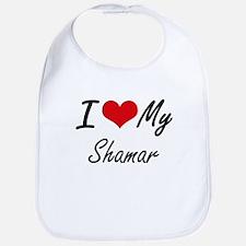I Love My Shamar Bib