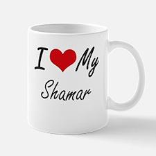 I Love My Shamar Mugs