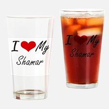 I Love My Shamar Drinking Glass