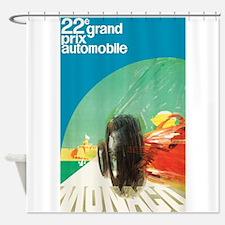 Monaco Grand Prix Vintage Poster Shower Curtain