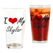 I Love My Skylar Drinking Glass