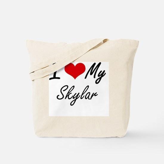 I Love My Skylar Tote Bag