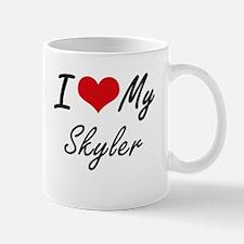 I Love My Skyler Mugs