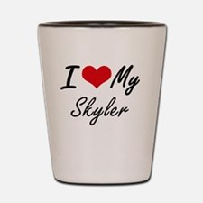 I Love My Skyler Shot Glass