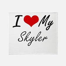 I Love My Skyler Throw Blanket
