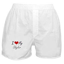 I Love My Skyler Boxer Shorts