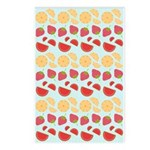 Modern Fruit Art Postcards (Package of 8)