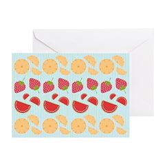 Modern Fruit Art Greeting Cards (Pk of 20)