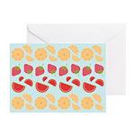 Modern Fruit Art Greeting Cards (Pk of 10)