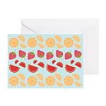 Modern Fruit Art Greeting Card
