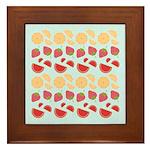 Modern Fruit Art Framed Tile