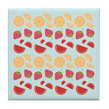 Modern Fruit Art Tile Drink Coaster
