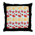 Modern Fruit Art Throw Pillow