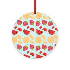 Modern Fruit Art Ornament (Round)