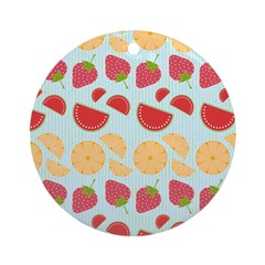 Modern Fruit Art Ornament (Round)