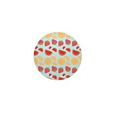 Modern Fruit Art Mini Button