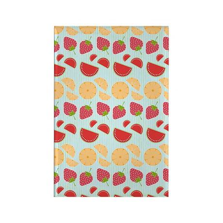 Modern Fruit Art Rectangle Magnet (100 pack)