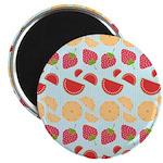 """Modern Fruit Art 2.25"""" Magnet (10 pack)"""