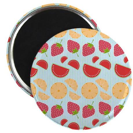 """Modern Fruit Art 2.25"""" Magnet (100 pack)"""