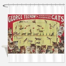 Vintage Circus Cats, Performing Cats Poster Shower