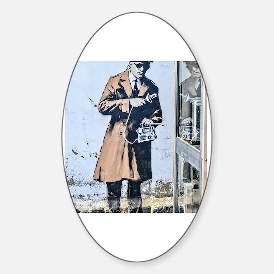 Cute Spy Sticker (Oval)