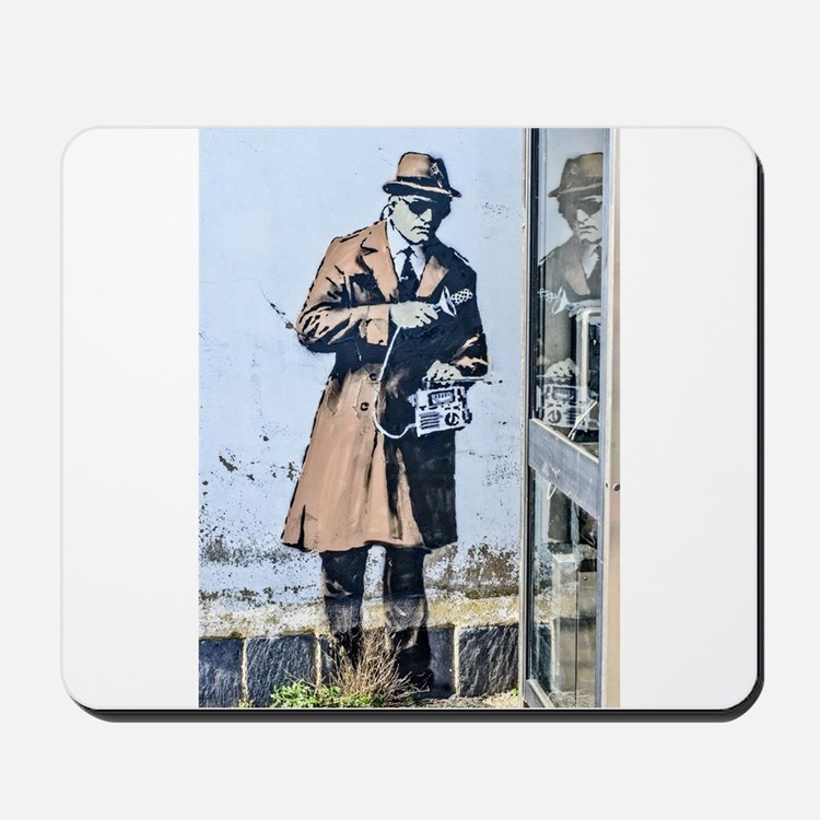 BANKSY SPY BOOTH CHELTENHAM Mousepad