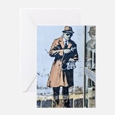 BANKSY SPY BOOTH CHELTENHAM Greeting Cards
