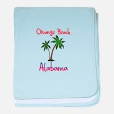 Orange Beach Alabama baby blanket