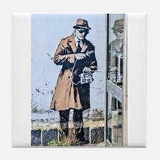 BANKSY SPY BOOTH CHELTENHAM Tile Coaster