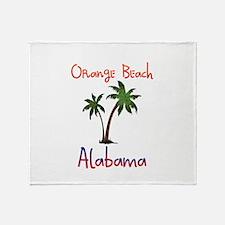Orange Beach Alabama Throw Blanket
