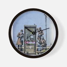 BANKSY SPY BOOTH CHELTENHAM Wall Clock