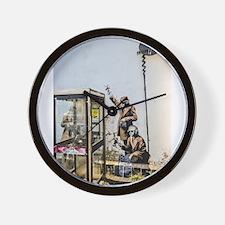 BANKSY SPY BOOTH , CHELTENHAM Wall Clock