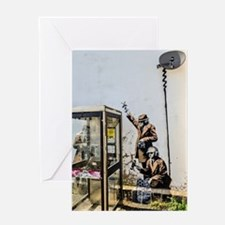 BANKSY SPY BOOTH , CHELTENHAM Greeting Cards