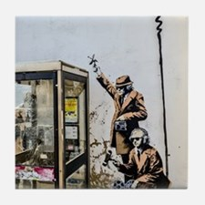 BANKSY SPY BOOTH , CHELTENHAM Tile Coaster