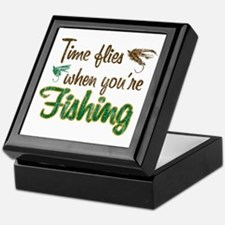 Time Flies When Fishing Keepsake Box