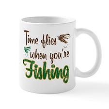 Time Flies When Fishing Mug