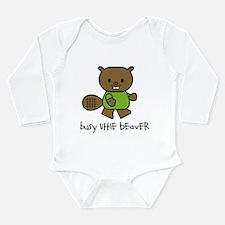 Cute Beaver Long Sleeve Infant Bodysuit