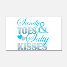 sandy toes salty kisses Car Magnet 20 x 12