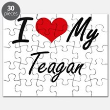I Love My Teagan Puzzle