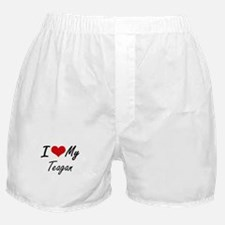 I Love My Teagan Boxer Shorts
