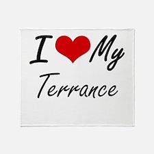 I Love My Terrance Throw Blanket