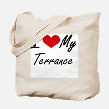 I Love My Terrance Tote Bag