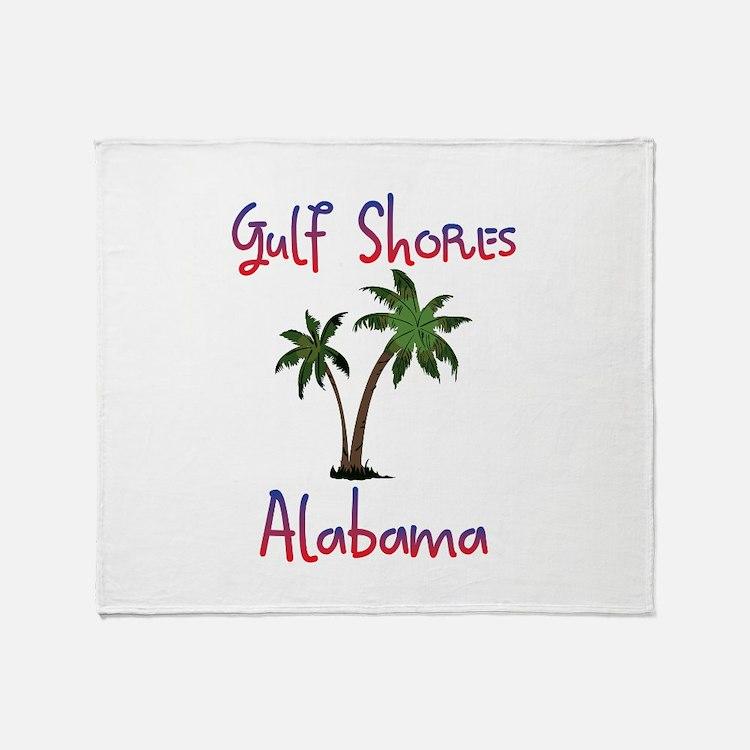 Gulf Shores Alabama Throw Blanket