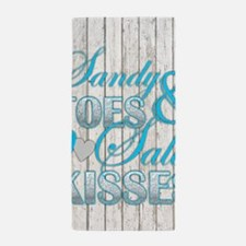 Sandy Toes and Salty Kisses Beach Towel