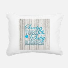 Sandy Toes and Salty Kis Rectangular Canvas Pillow