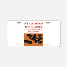 dominoes joke Aluminum License Plate