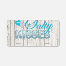 Sandy Toes and Salty Kisses Aluminum License Plate
