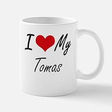 I Love My Tomas Mugs