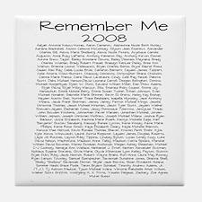 Remember Me Tile Coaster